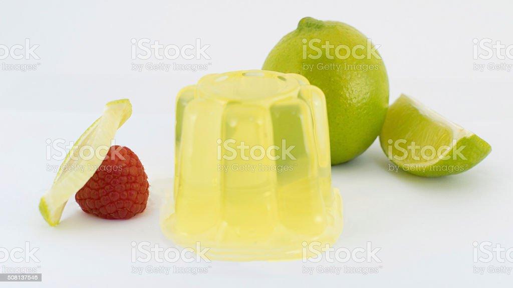 Lemon gelatin stock photo
