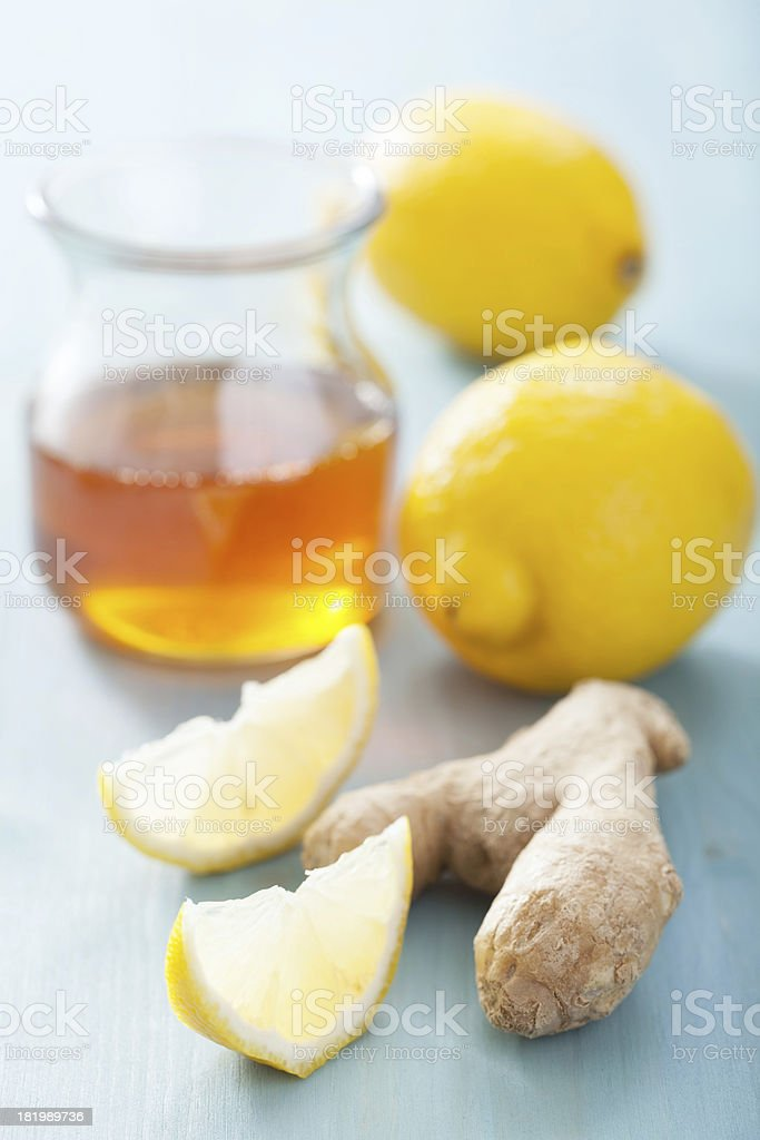 lemon ginger and honey royalty-free stock photo