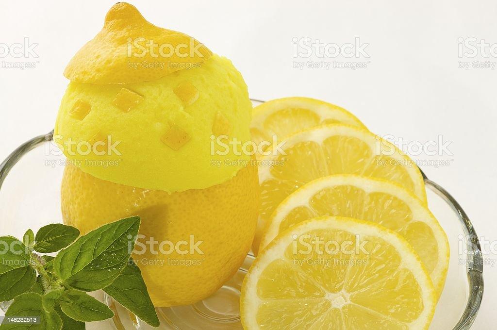 lemon ice cream royalty-free stock photo