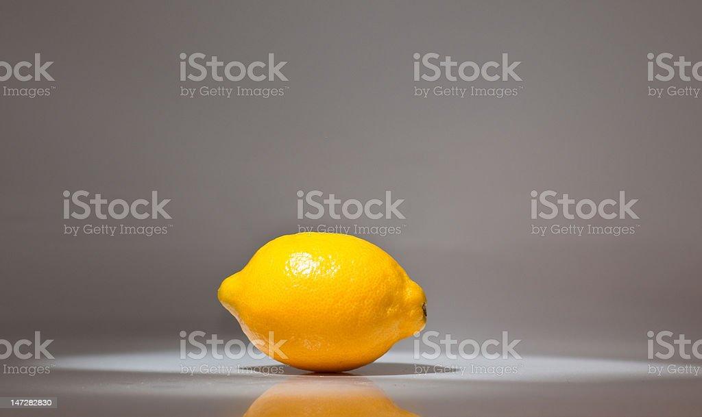 Lemon in a Lightbox royalty-free stock photo