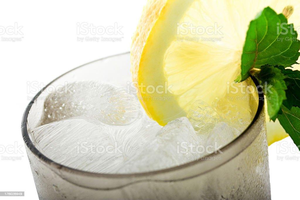 Lemon in Soda royalty-free stock photo