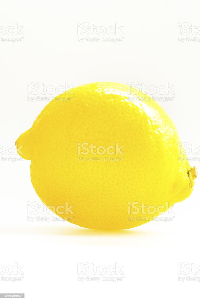 Lemon isolated on white background. royalty-free stock photo