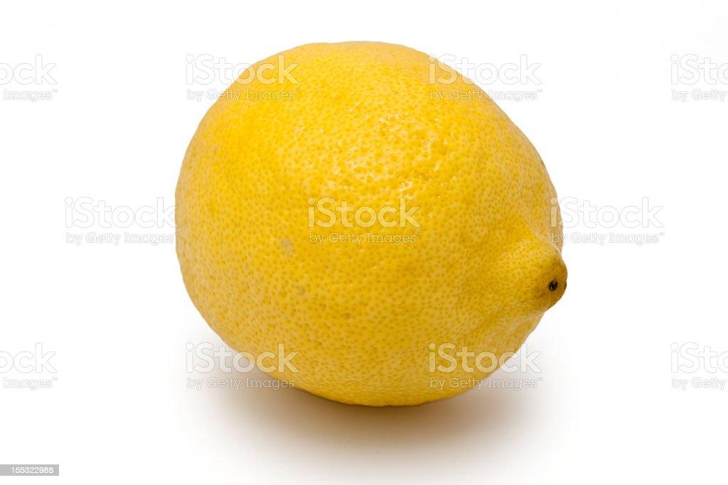 Lemon isolated royalty-free stock photo