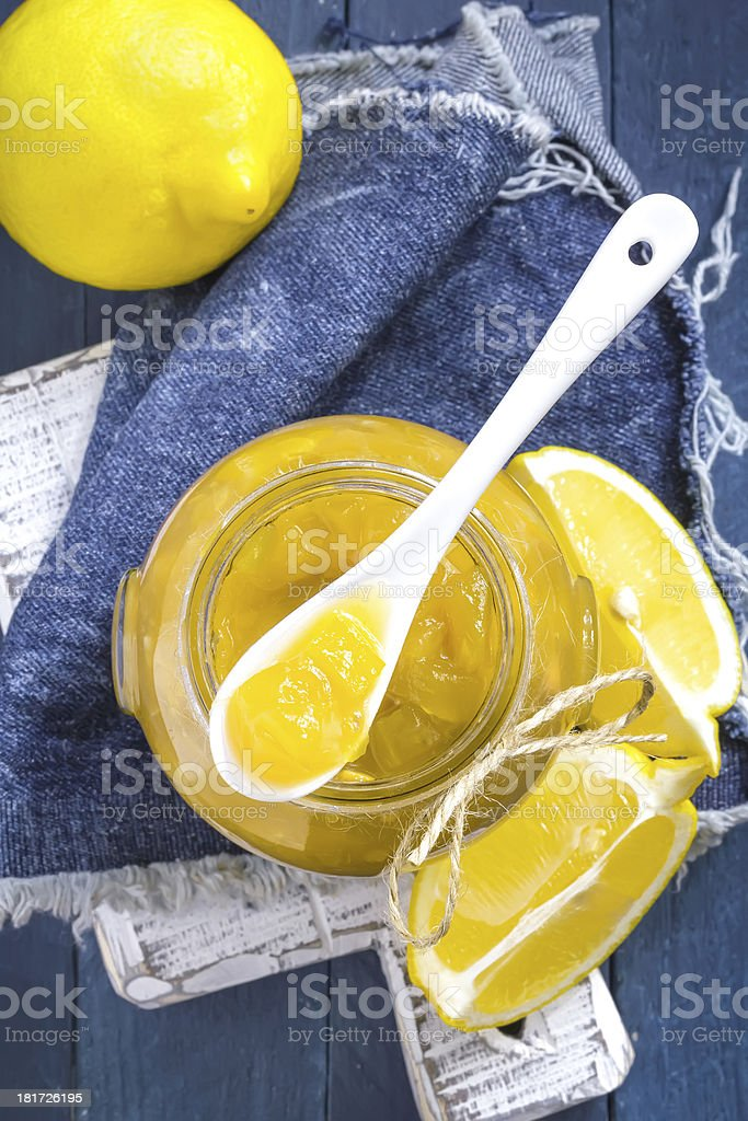 Lemon jam royalty-free stock photo