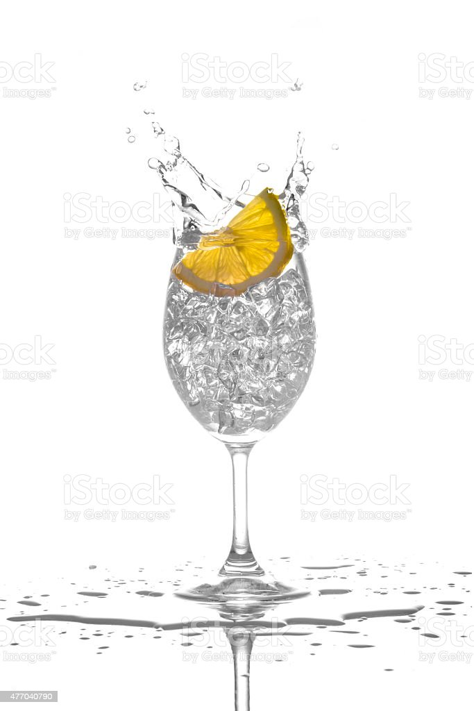 Lemon Juice Splash From Glass royalty-free stock photo