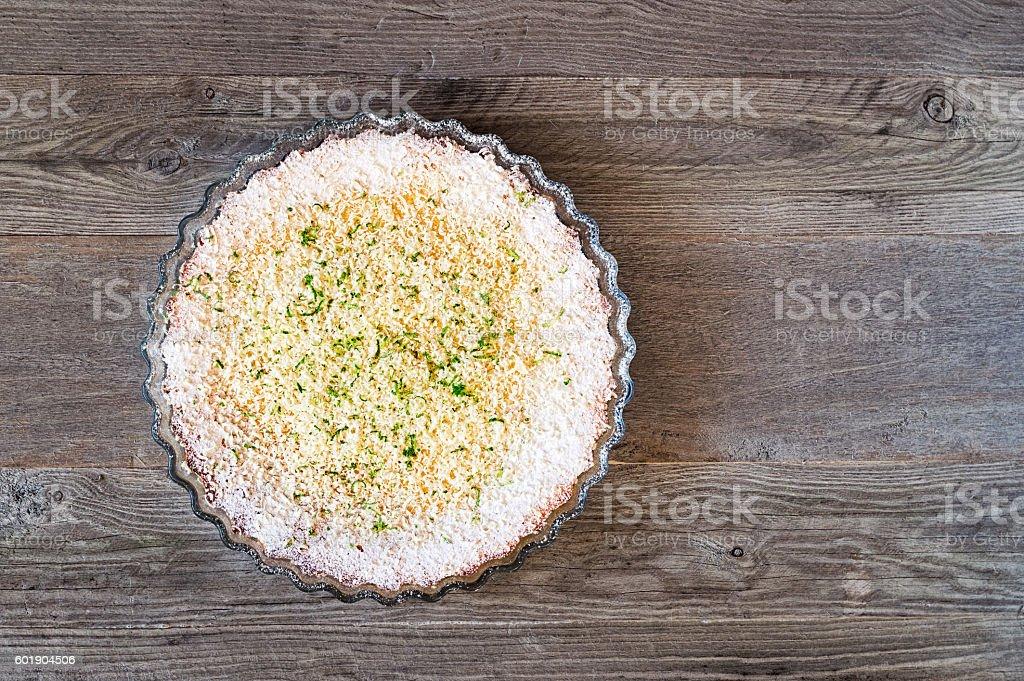 Lemon Lime Impossible Pie stock photo