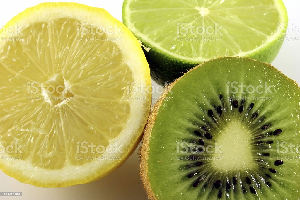 Lemon Lime Kiwi stock photo