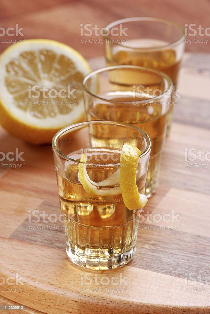 lemon liqueur royalty-free stock photo