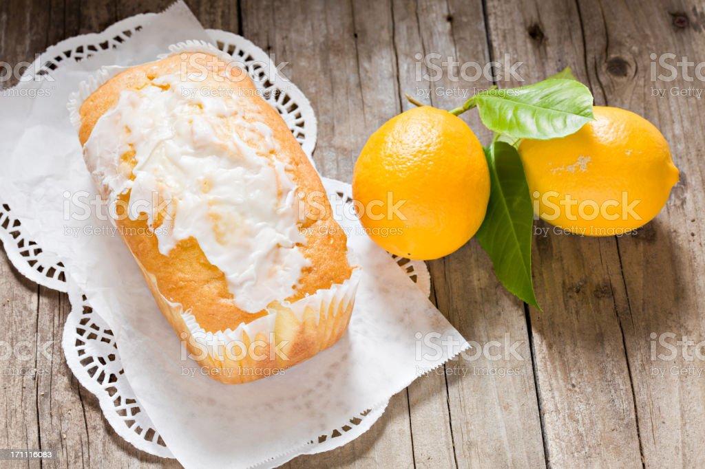 Lemon Loaf and Meyer Lemons stock photo