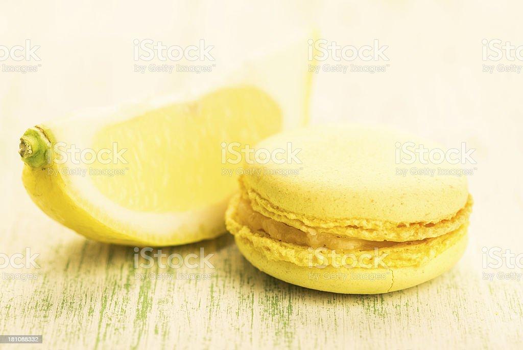 Lemon Macaroons stock photo