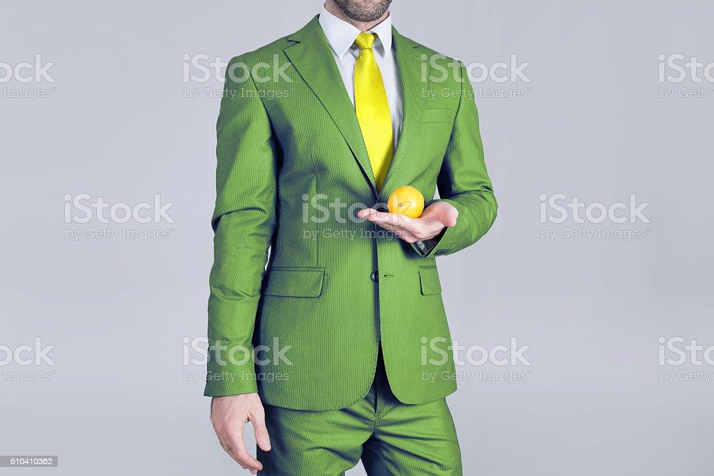 Lemon man stock photo