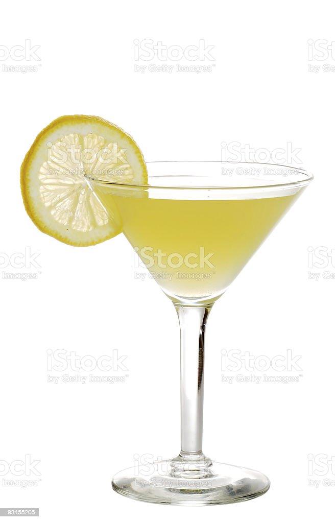 Lemon martini stock photo