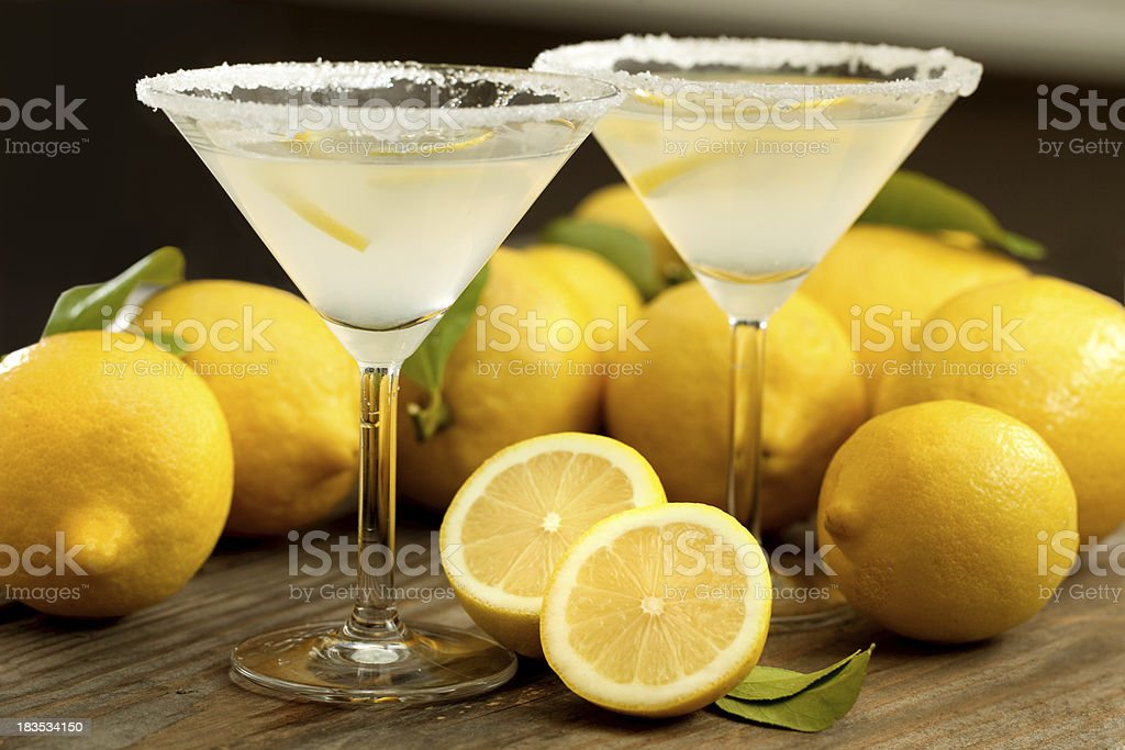 Lemon Martini's stock photo