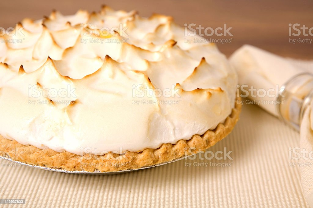 Lemon Merangue Pie stock photo