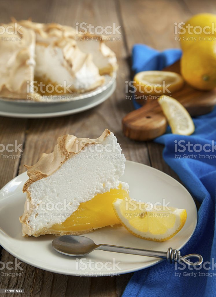 Lemon meringue pie royalty-free stock photo