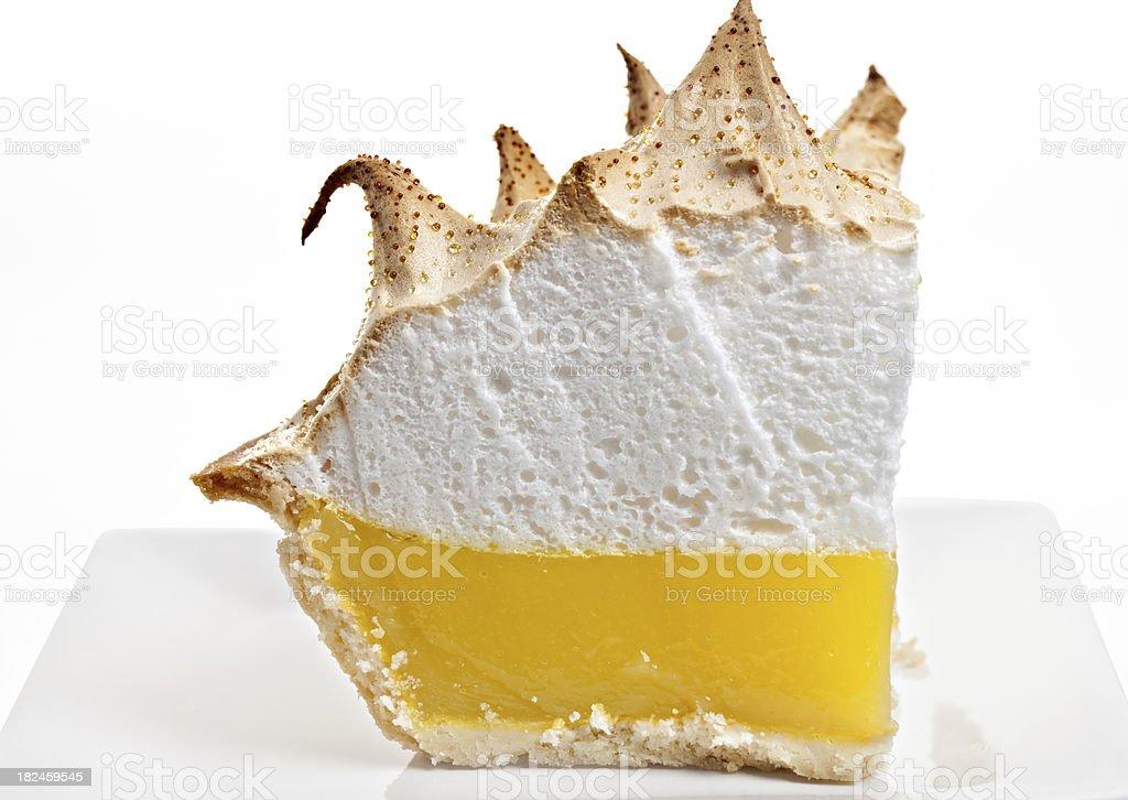 Lemon Meringue Pie Slice stock photo