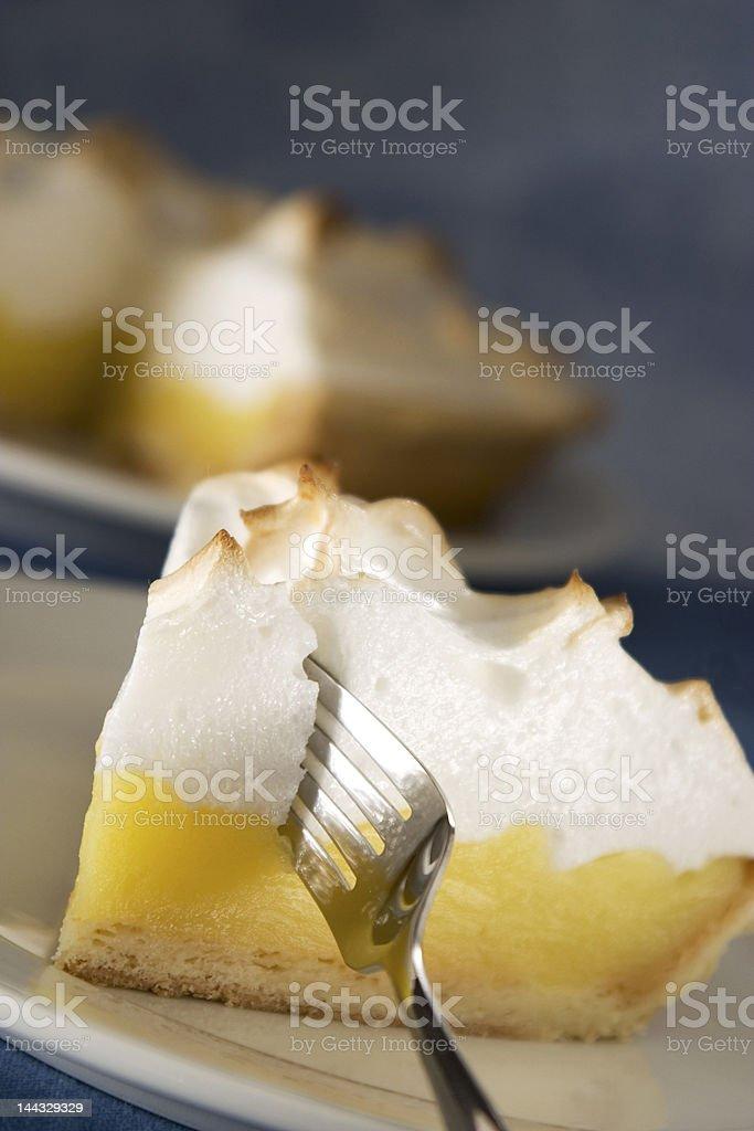 Lemon Meringue Slice stock photo