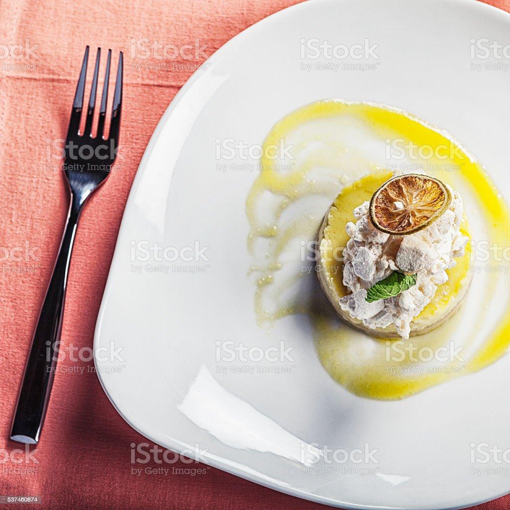 Lemon Meringue Tart Dessert stock photo