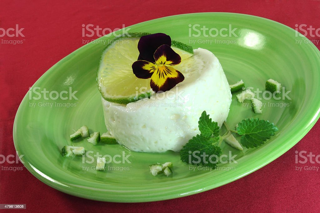 Lemon mousse stock photo