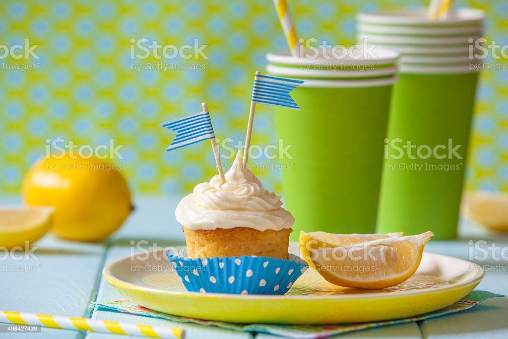 Lemon muffin stock photo