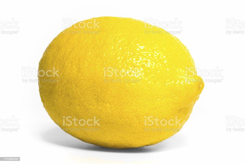 Lemon oblique royalty-free stock photo