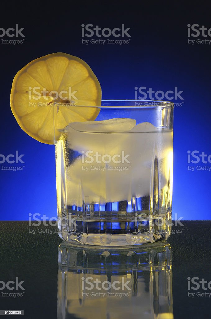 Lemon on Ice Drink stock photo