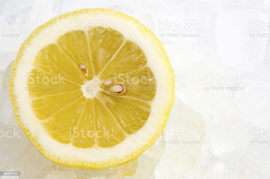 Lemon on ice royalty-free stock photo