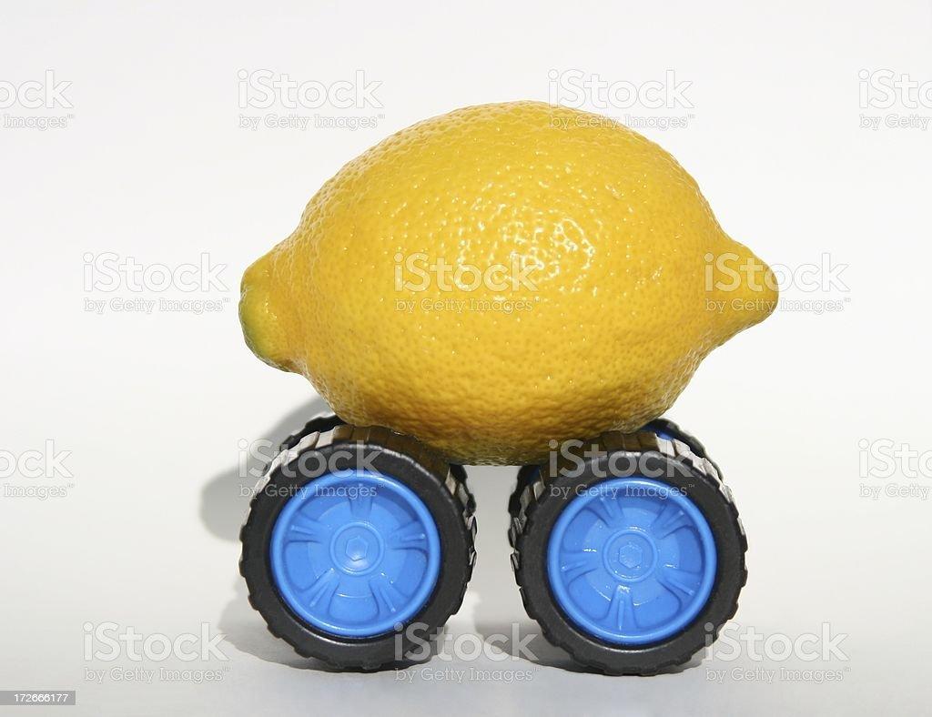 Lemon On Wheels stock photo