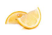 Lemon on white background.