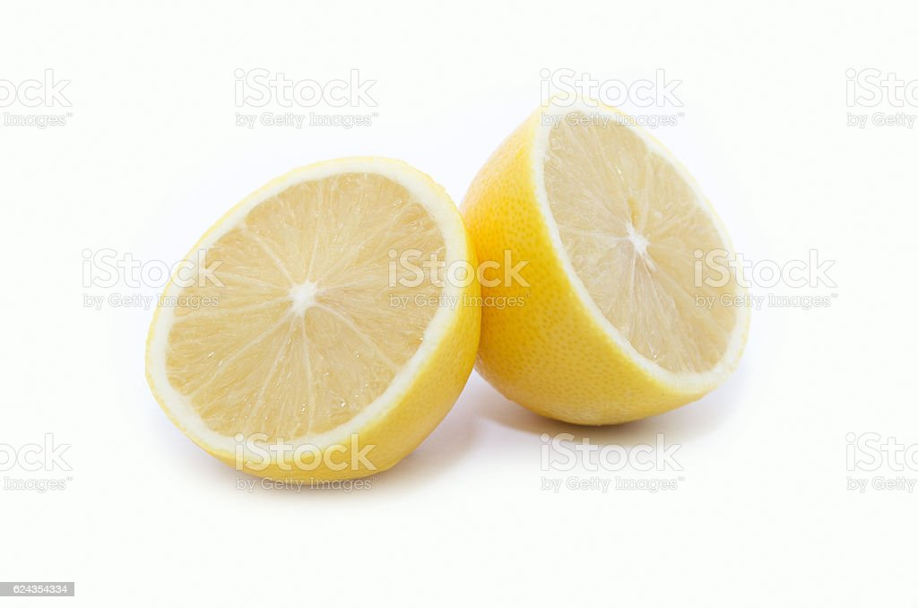 Lemon on white background royalty-free stock photo