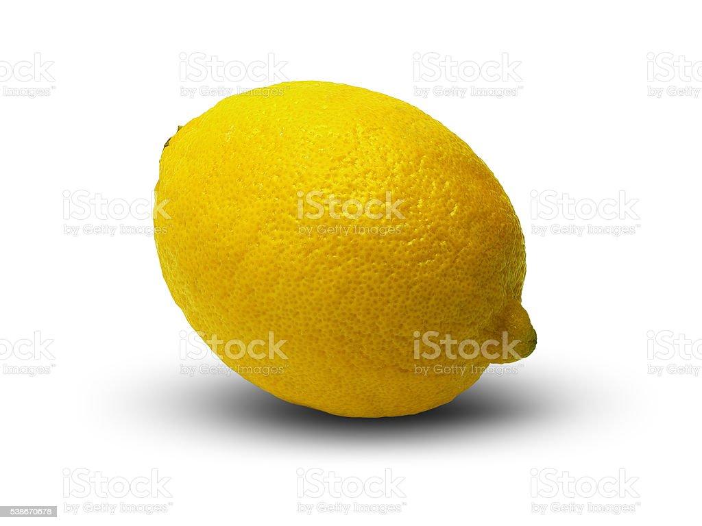Lemon on white. stock photo