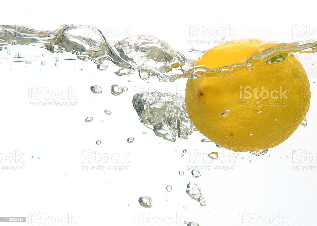Lemon overboard royalty-free stock photo