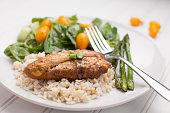 Lemon Pepper Chicken with Rice