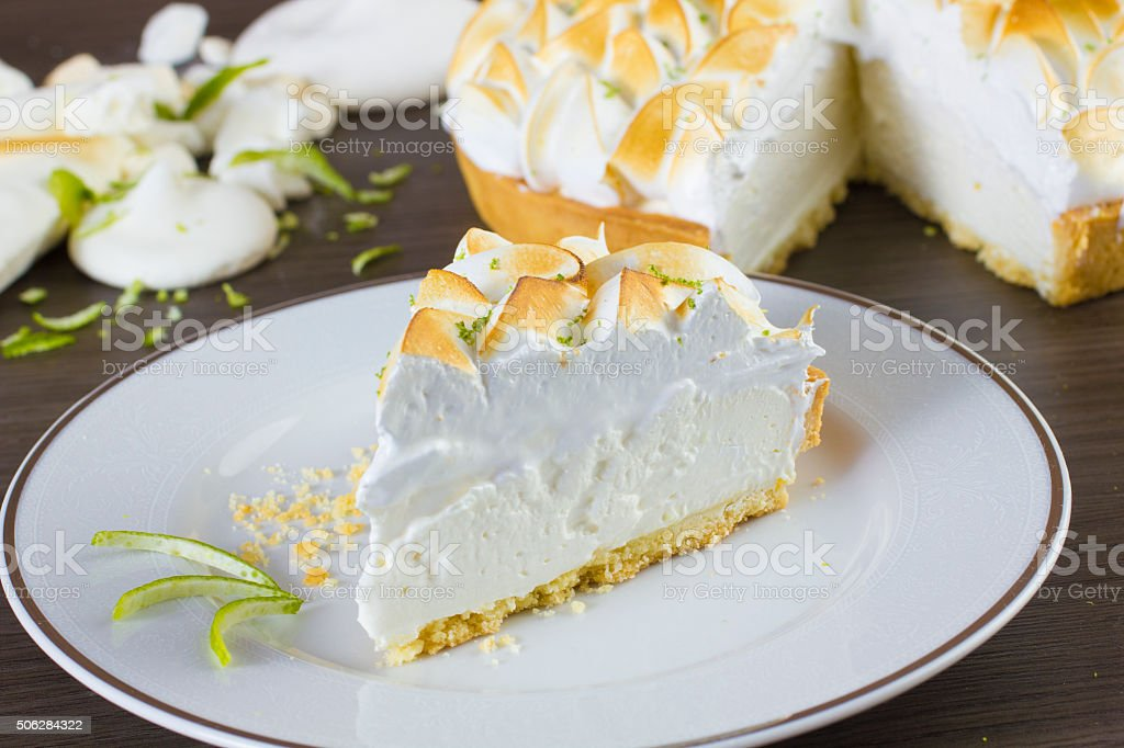 Lemon PieLovely lemon tart with delicious whipped cream topping stock photo