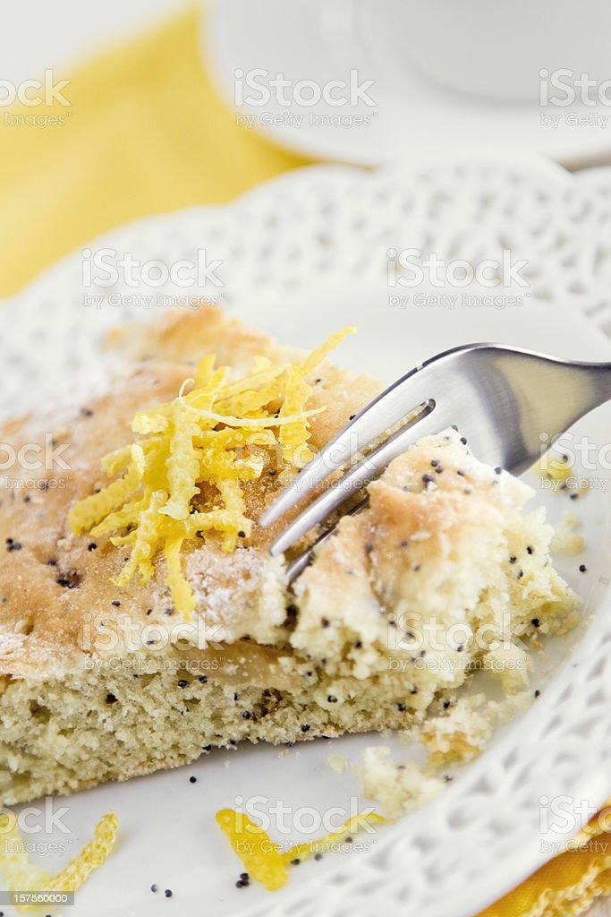 Lemon Poppyseed Cake royalty-free stock photo