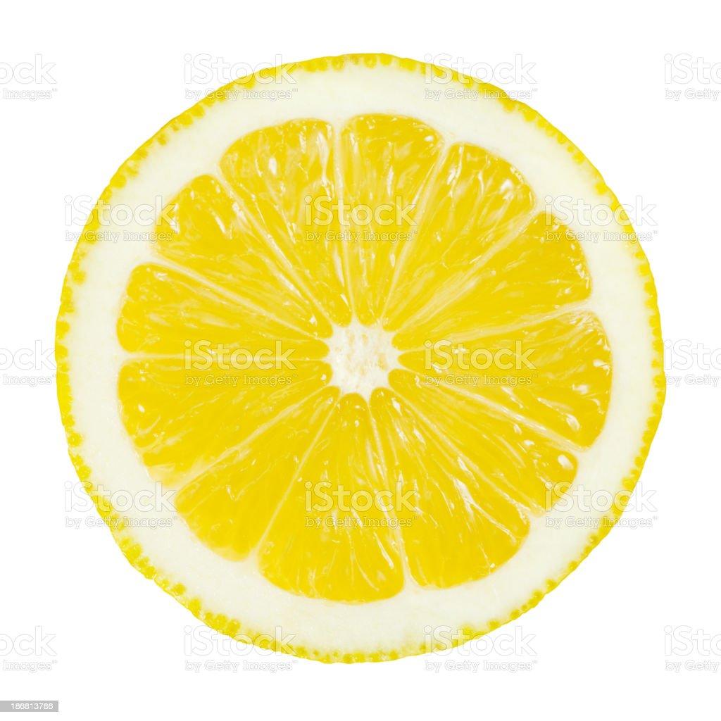 Lemon Portion On White royalty-free stock photo