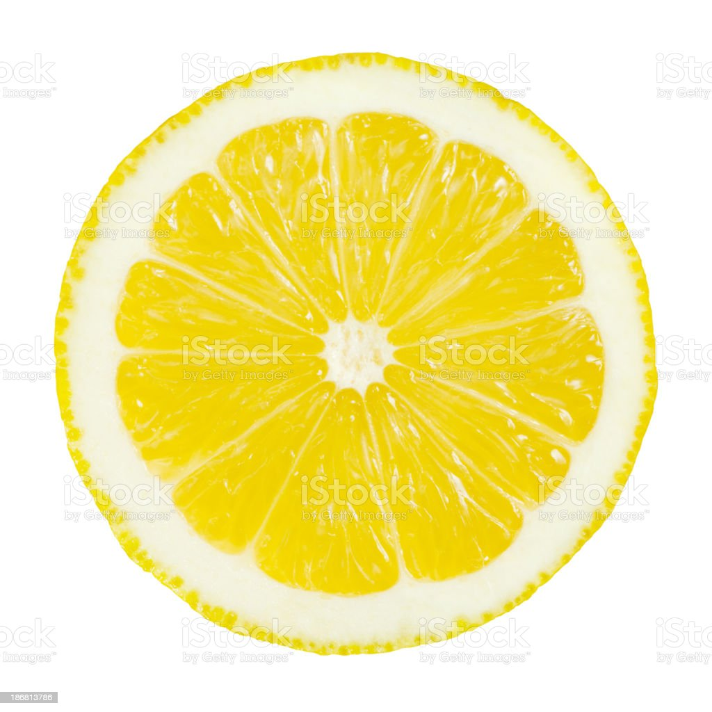 Lemon Portion On White stock photo