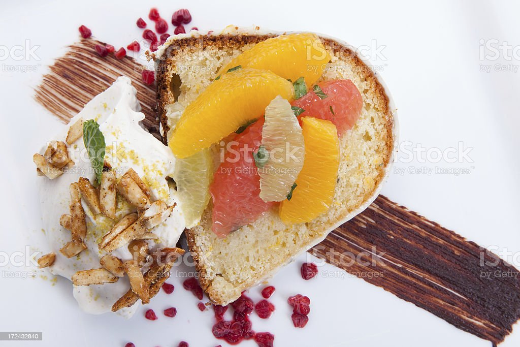 Lemon pound cake stock photo