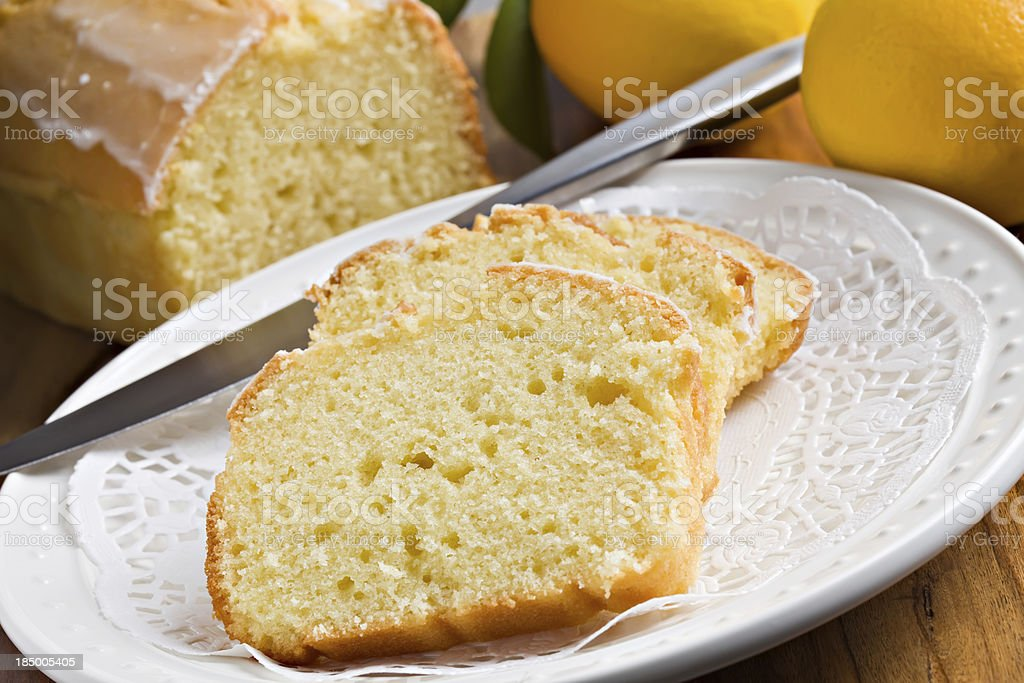 Lemon Pound Cake royalty-free stock photo