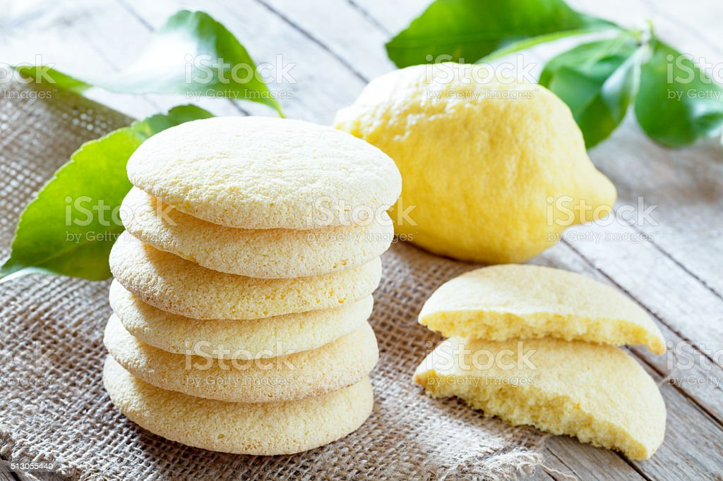 Lemon Shortbread Cookies stock photo