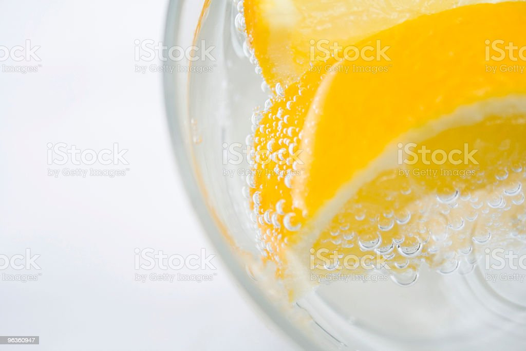 Lemon Slices in the Drink royalty-free stock photo
