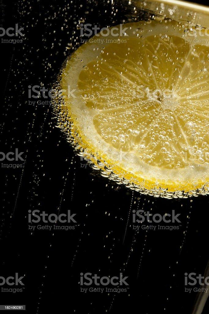 lemon sparkling mineral water stock photo