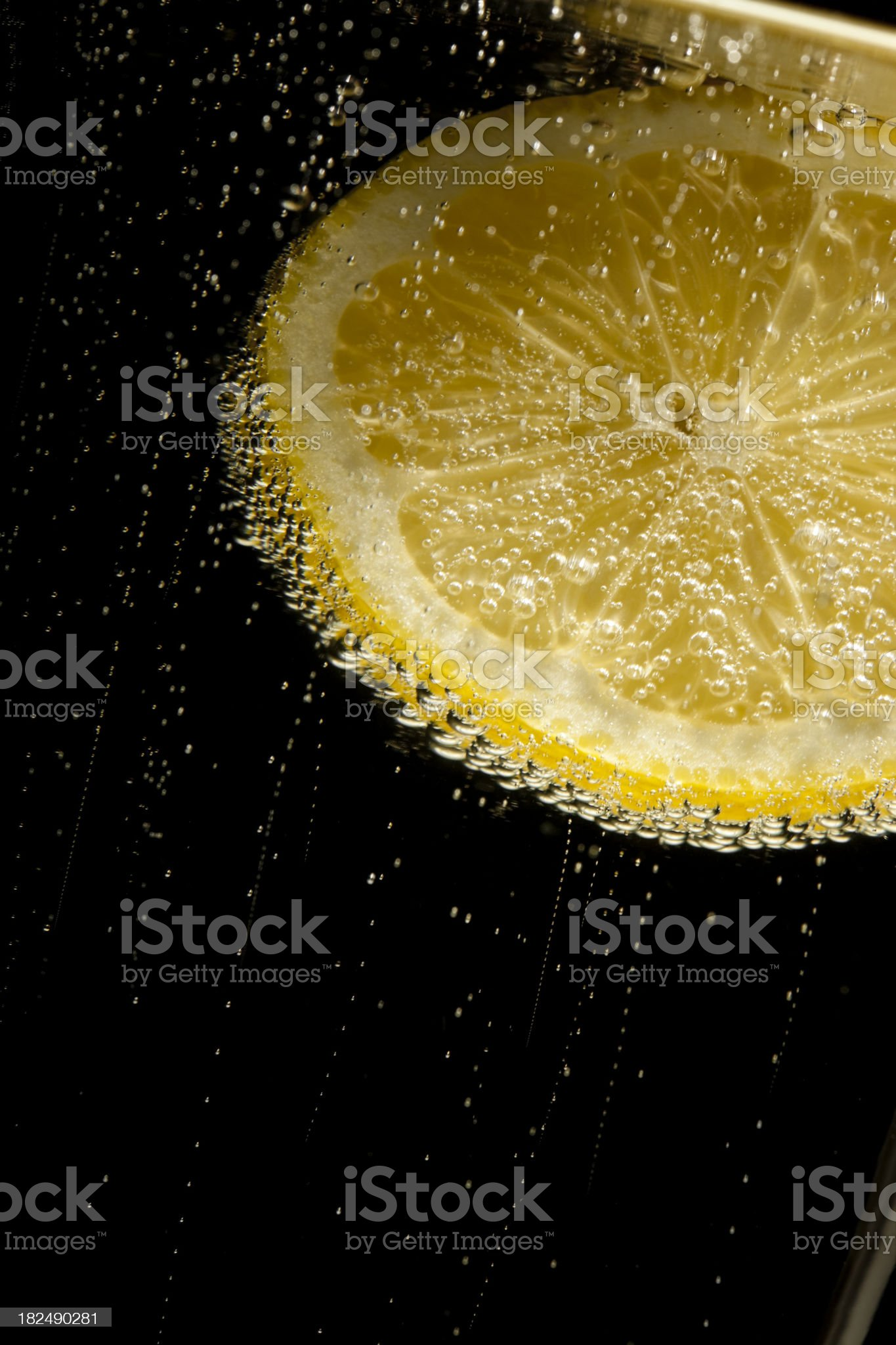 lemon sparkling mineral water royalty-free stock photo