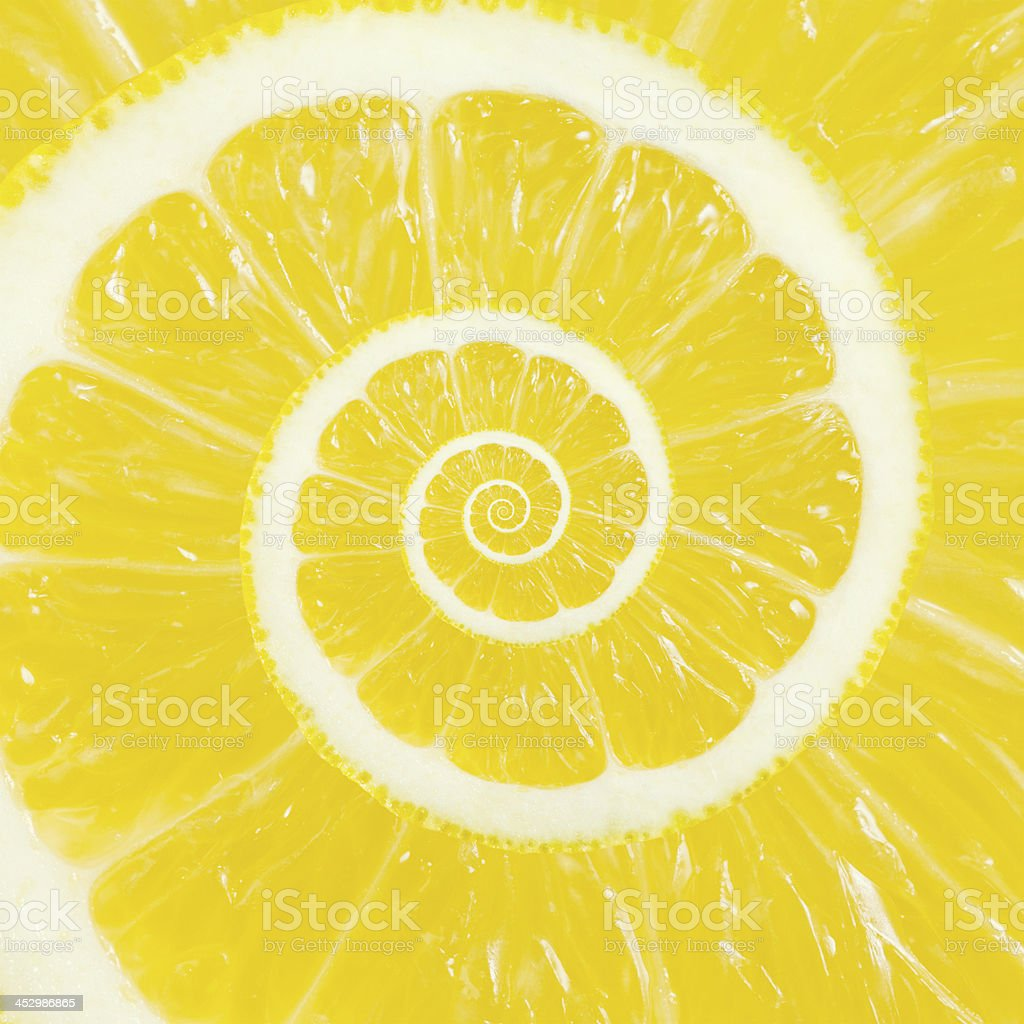 Lemon Spiral royalty-free stock photo