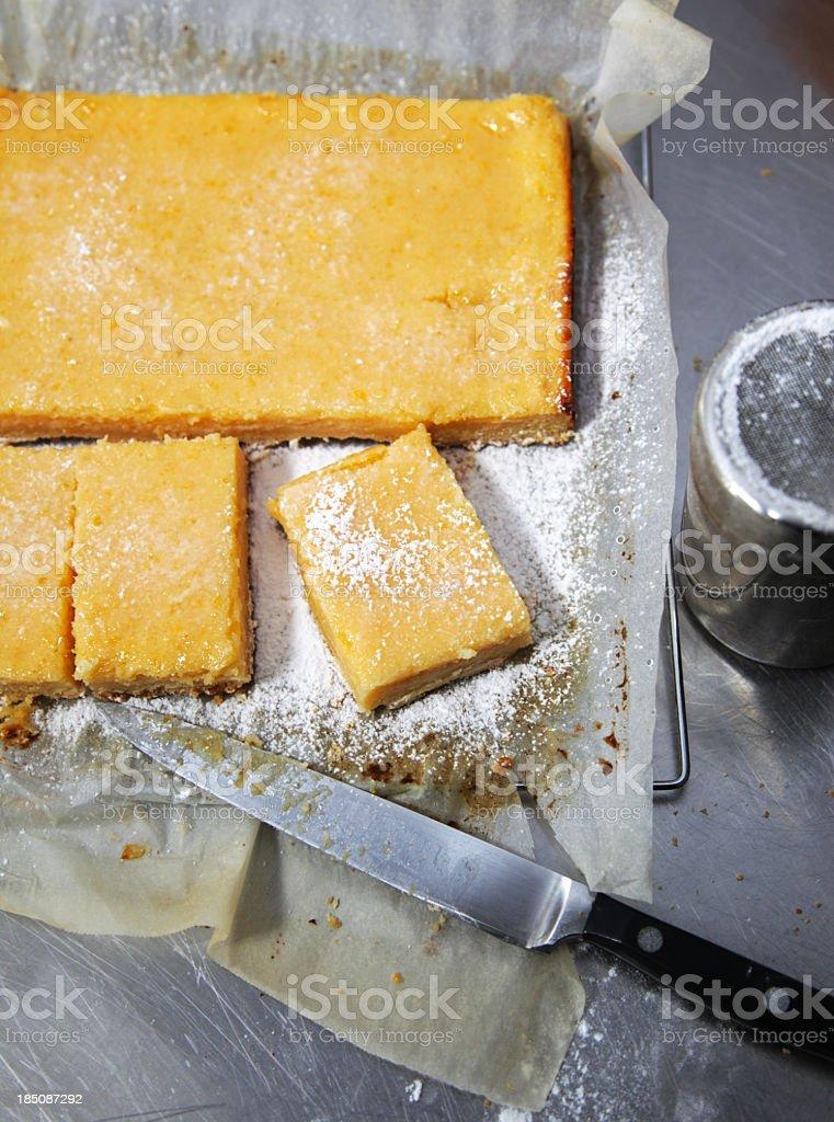 Lemon squares stock photo