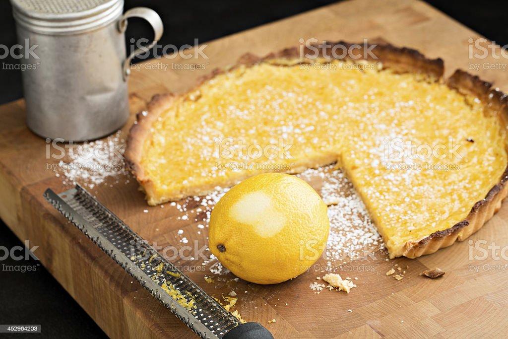 Lemon Tart And Primary Ingredient stock photo