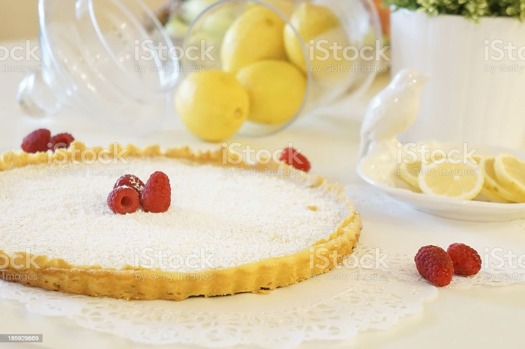 Lemon tart royalty-free stock photo