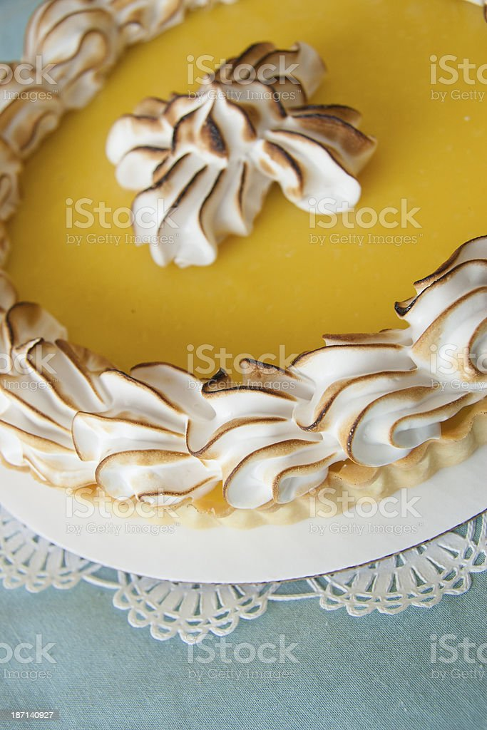 Lemon Tart royalty-free stock photo
