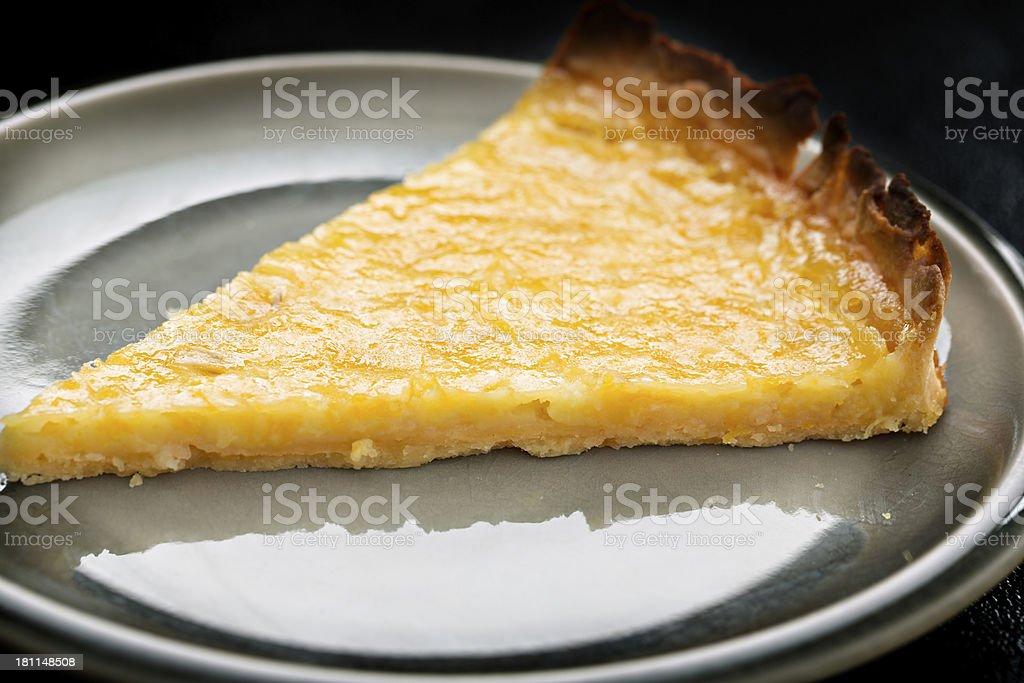 Lemon Tart Slice royalty-free stock photo