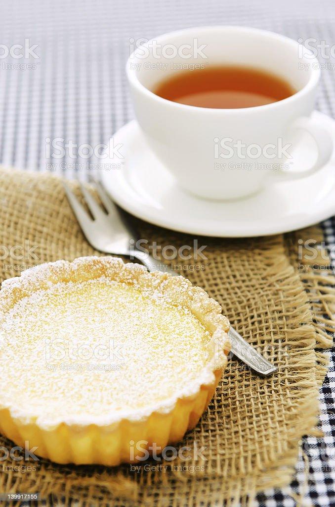 Lemon tart snack royalty-free stock photo